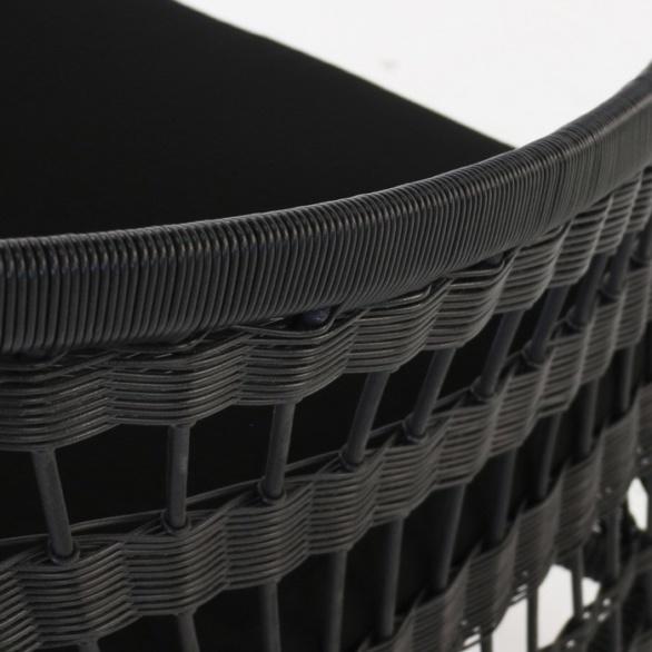 black wicker closeup image