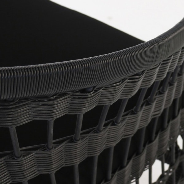 black wicker closeup image