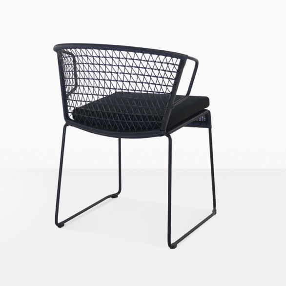 outdoor modern dining chair in black