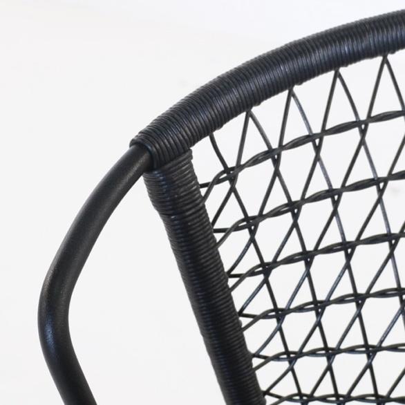 black wicker weave