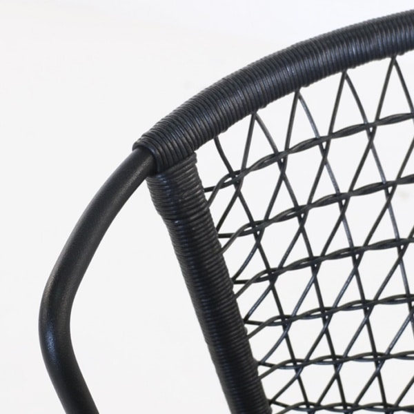 black wicker weave