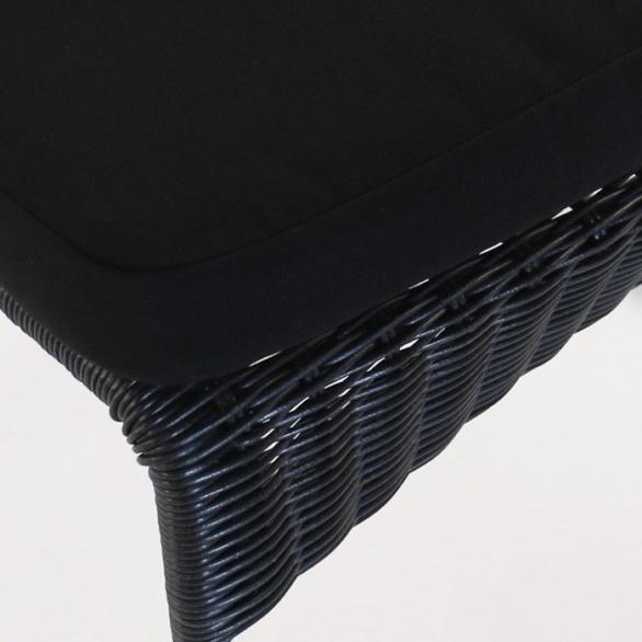 black outdoor wicker closeup image