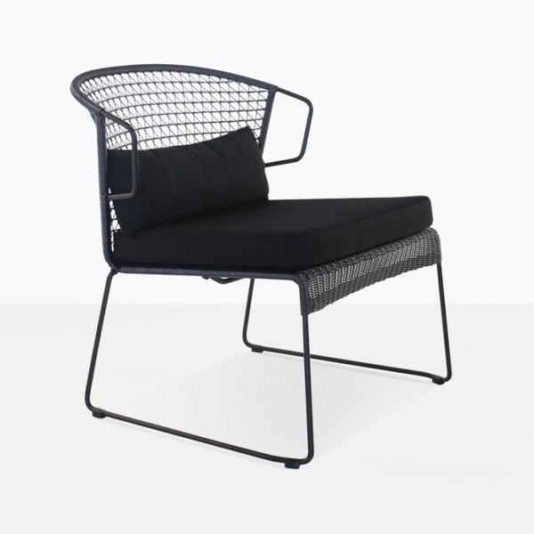 Sophia Outdoor Wicker Relaxing Chair (Black)-0