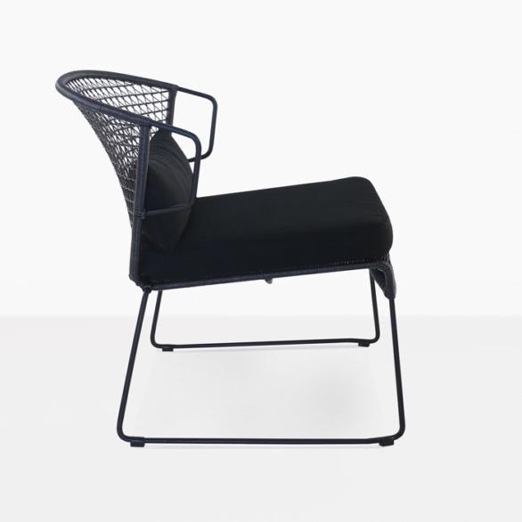 black modern outdoor relaxing chair