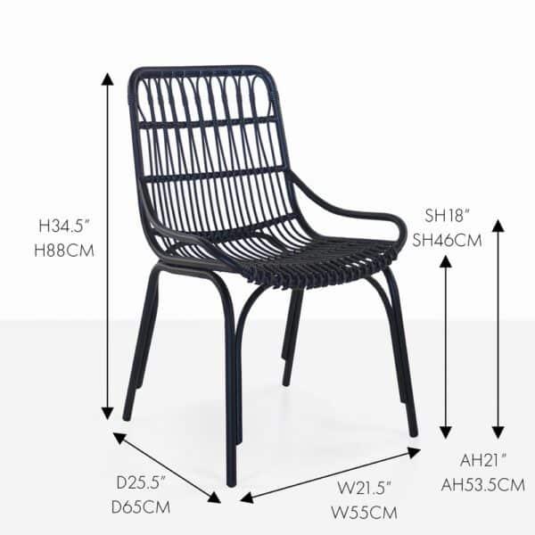 sydney wicker dining chair