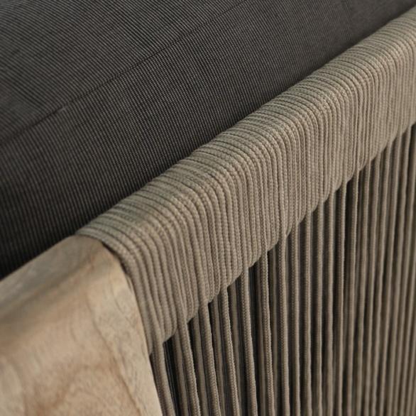 Ventura Reclaimed Teak Sectional Corner Chair Closeup