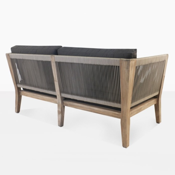 outdoor loveseat with rope details