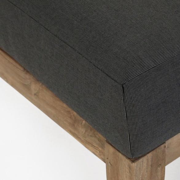 charcoal sunbrella cushion closeup image