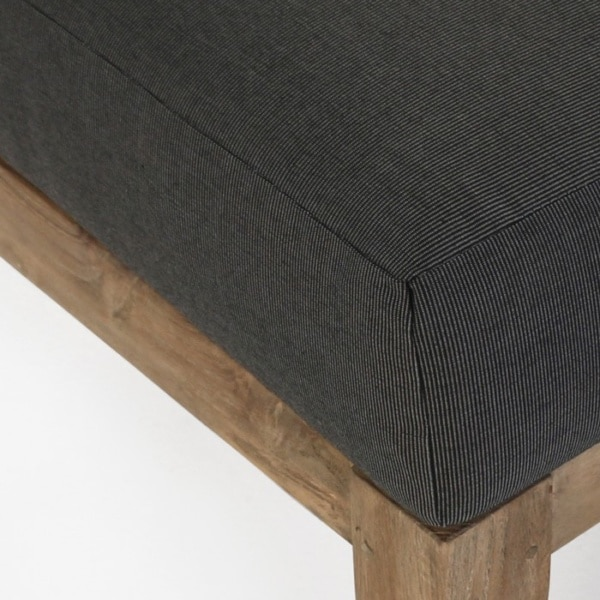 charcoal sunbrella cushion closeup image