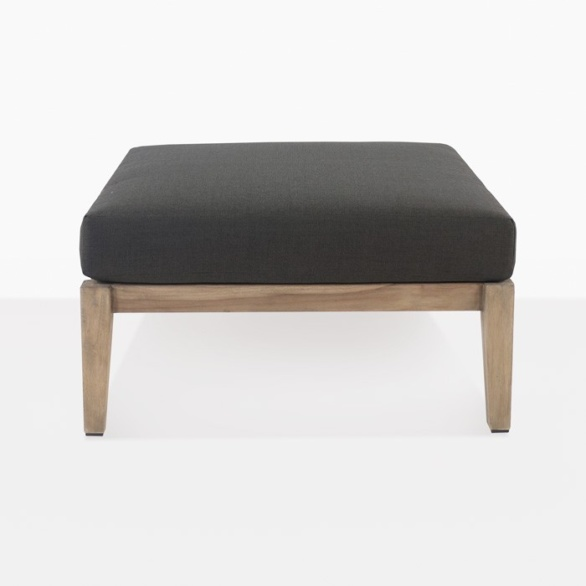 square outdoor ottoman with cushion