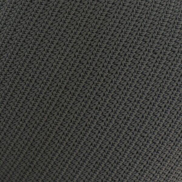 Gigi Rectangle Crochet Pillow Black outdoor throw pattern closeup image
