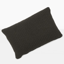 Gigi Rectangle Crochet Pillow (Black)-0