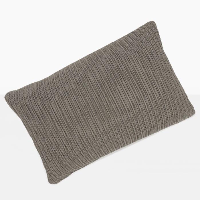 Gigi Rectangle Crochet Pillow (Pebble)-0