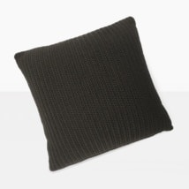 Gigi Square Crochet Pillow (Black)-0