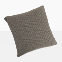 Gigi Square Crochet Pillow (Pebble)-0
