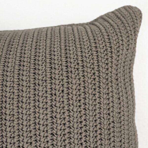 Gigi Rectangle Crochet Pillow Pebble outdoor throw hand crochet