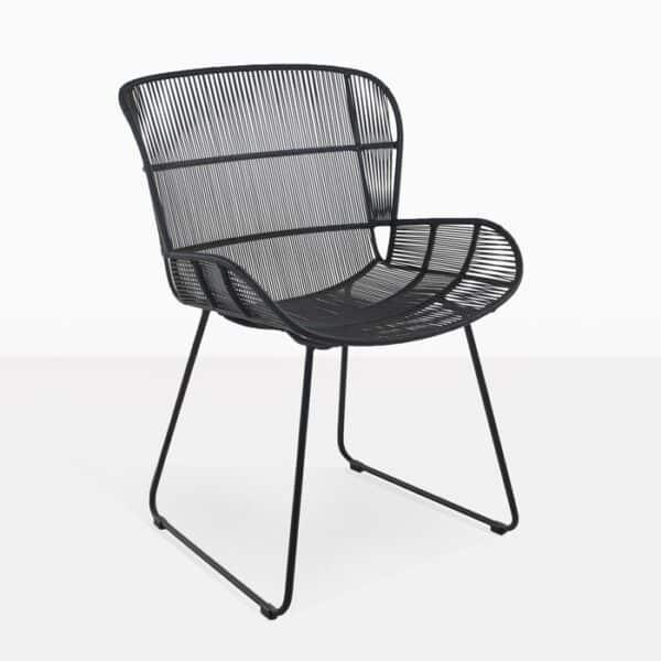 Nairobi Woven Dining Arm Chair (Black)-0