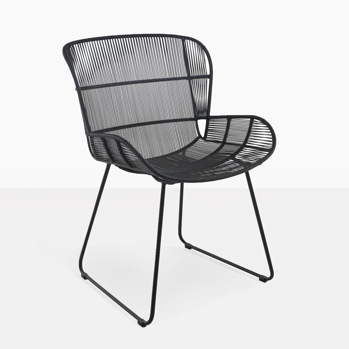Woven Dining Chairs: Nairobi Woven Dining Arm Chair (Black)