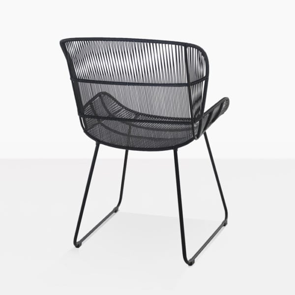 contemporary dining chair in black