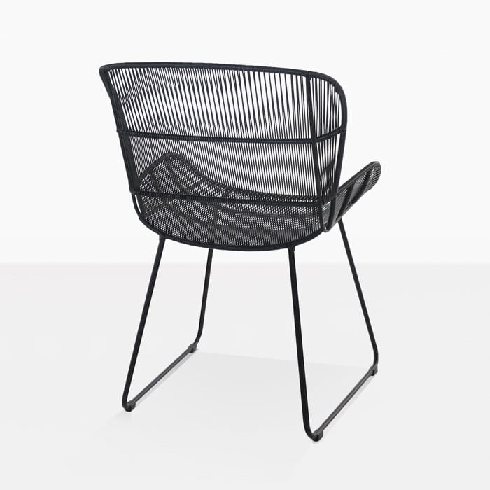 Nairobi woven dining arm chair black teak warehouse