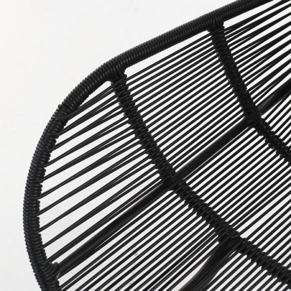 polyethylene dining chair closeup image