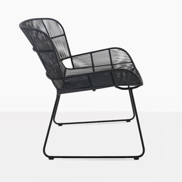 Nairobi Woven Outdoor Relaxing Chair black side view photo