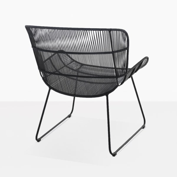 Nairobi Woven Outdoor Relaxing Chair black back view