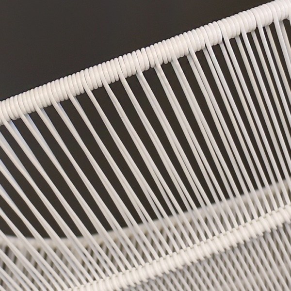Nairobi Woven Outdoor Relaxing Chair White wicker closeup photo