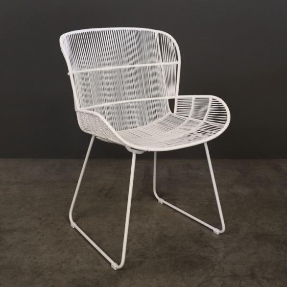 Nairobi Woven Dining Arm Chair (White)-0