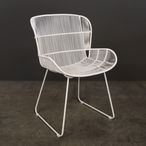 Nairobi Woven Dining Arm Chair (White)-0