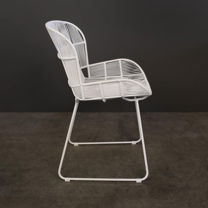 Nairobi Woven Dining Arm Chair White Teak Warehouse