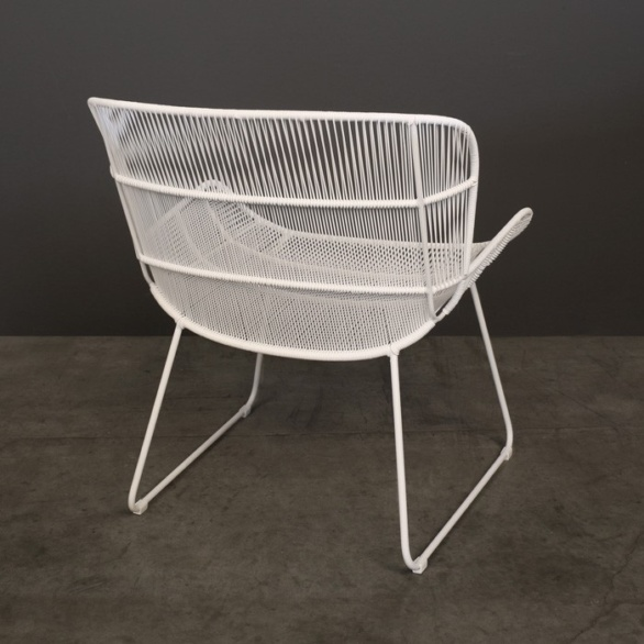 Nairobi Woven Outdoor Relaxing Chair White backside photo