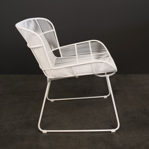 Nairobi Woven Outdoor Relaxing Chair White side view photo