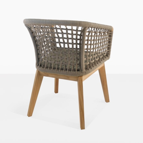 Ravoli Rope Outdoor Dining Chair back view