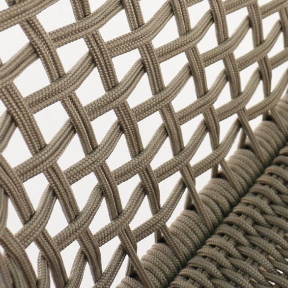 Ravoli Rope Outdoor Dining Chair Sunbrella rope closeup image