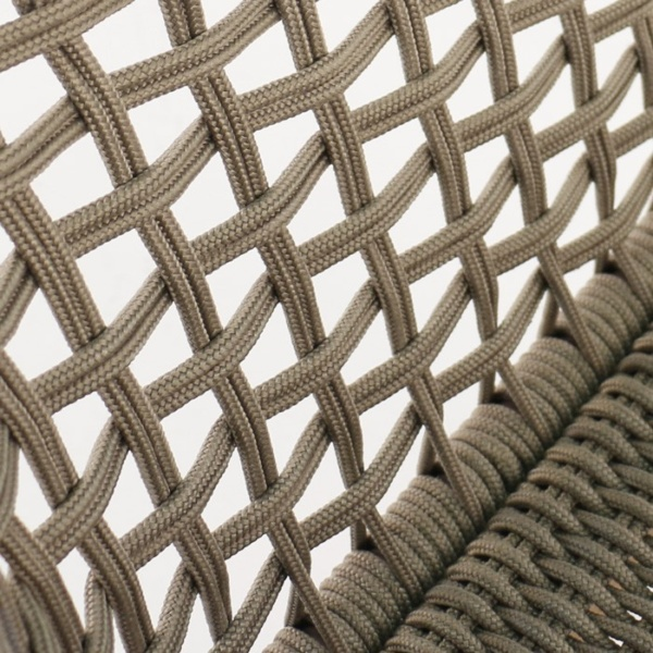 Ravoli Rope Outdoor Dining Chair Sunbrella rope closeup image