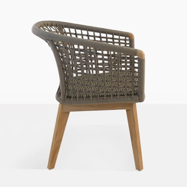 Ravoli Rope Outdoor Dining Chair side view