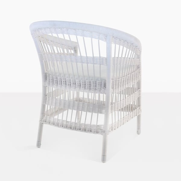 Modern Wicker Outdoor Dining Chair back frame view