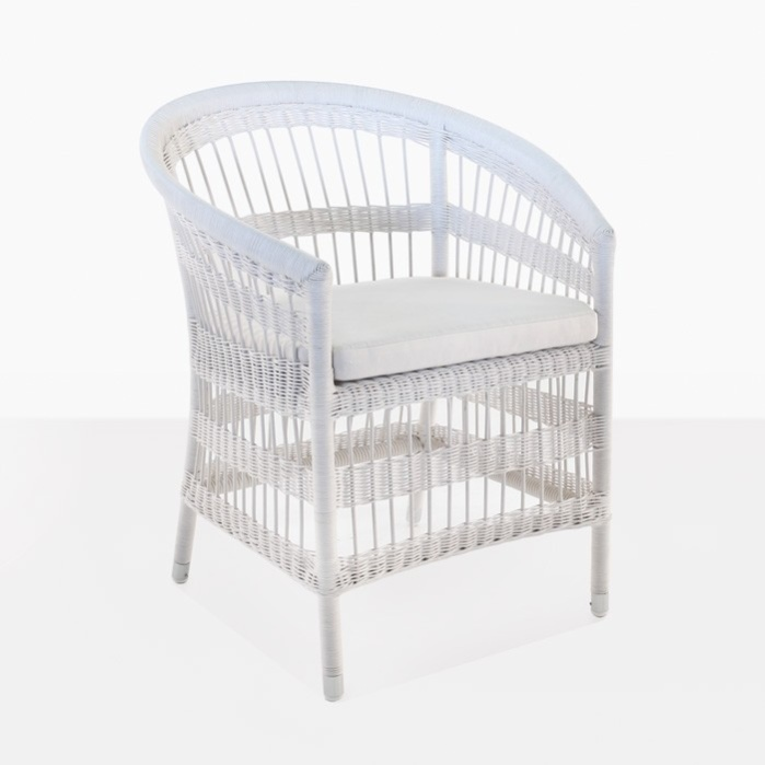 Sahara Wicker Dining Chair (White)-0