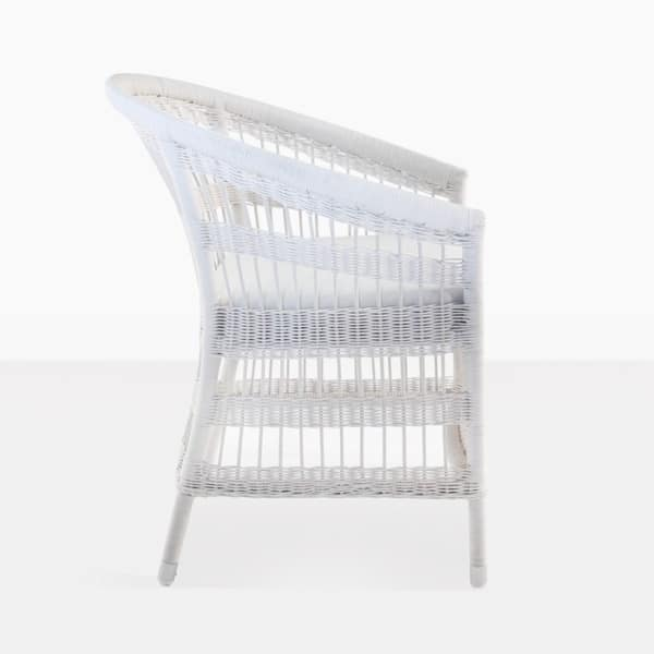 Modern Wicker Outdoor Dining Chair side view