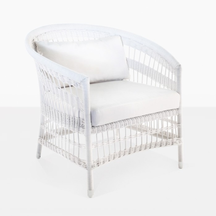 Sahara Wicker Relaxing Chair (White)-0