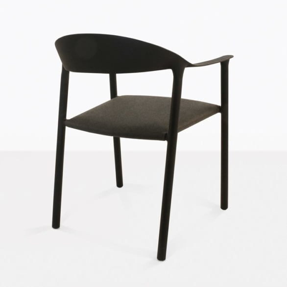 Outdoor Dining Chair aluminum back view