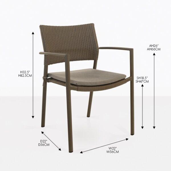jolie wicker dining chair
