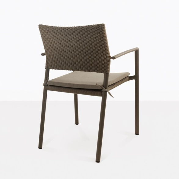 Jolie Woven Outdoor Dining Chair back view pic