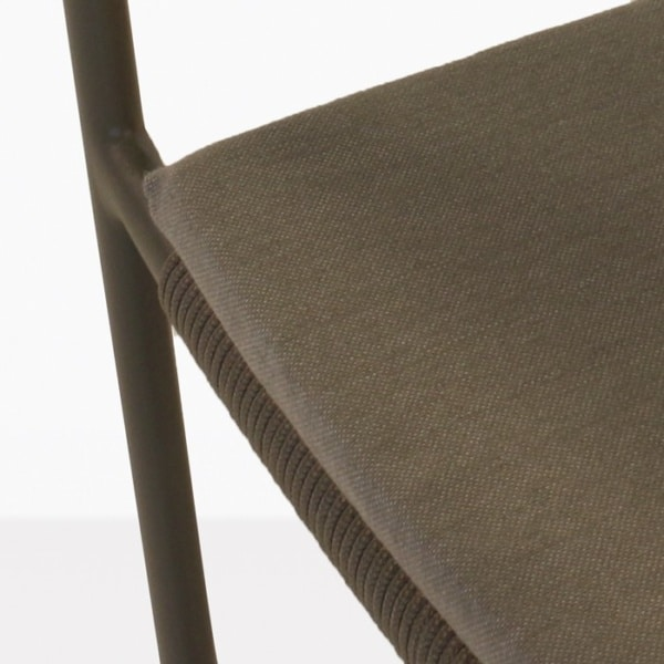 Jolie Woven Outdoor Dining Chair Cushion closeup image