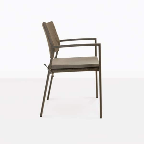 Jolie Woven Outdoor Dining Chair side view pic