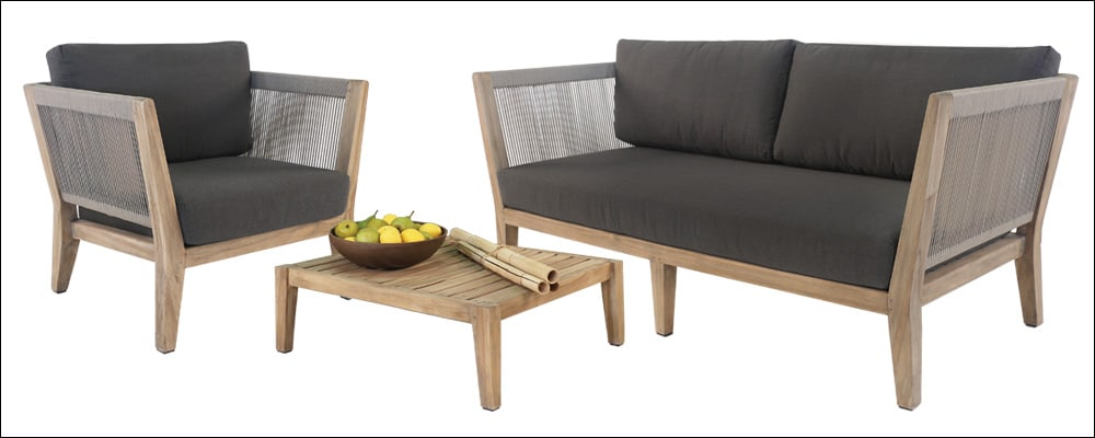 teak outdoor sectional furniture set