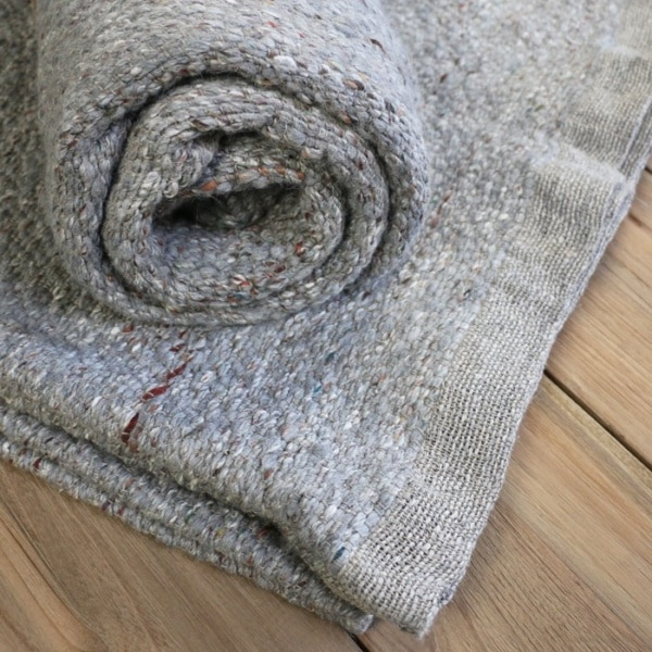 wool and silk throw