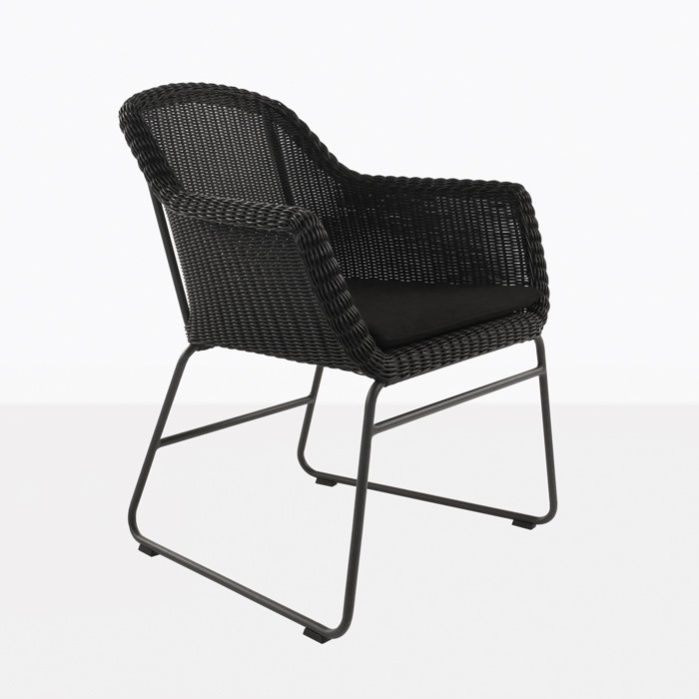 Harbour Wicker Dining Chair (Black)-0