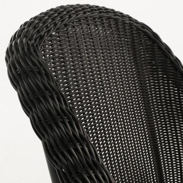 wicker chair closeup image